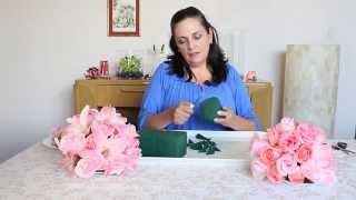 getlinkyoutube.com-Como hacer una esfera colgante con flores