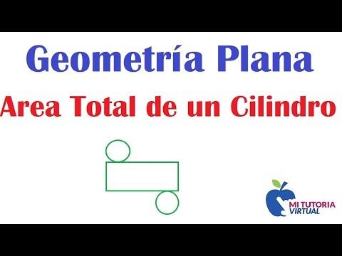 Calculo Area Total de un Cilindro - Geometria Plana - Mi Profesor de Matematicas - Video 041