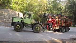 MB-Trac 1000 mit Beha Rückewagen T1300, Fuhre Energieholz