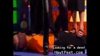 Guy is trampled by three women and Gail Porter (Dot Comedy show)