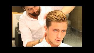 getlinkyoutube.com-Men´s hairstyles 2017 [] Comb Over Undercut by Kochi
