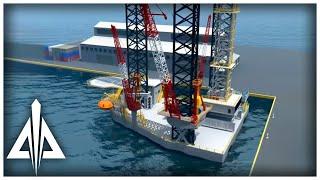 getlinkyoutube.com-Oil Rig 3D Animation - Trinity Animation