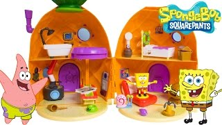 getlinkyoutube.com-SpongeBob House SpongeBob SquarePants Pineapple House Playset Bob Esponja Губка Боб Toy Videos