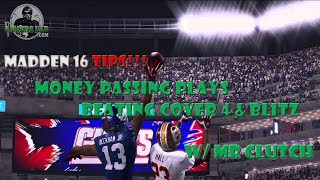 getlinkyoutube.com-Madden 16 | Best Passing Plays | Beat Cover 4 and Blitz
