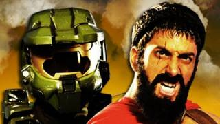 getlinkyoutube.com-Master Chief vs Leonidas. Epic Rap Battles of History Season 2.