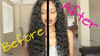 Maxine Hair Brazilian Water Wave | Quickest Wash & Go EVER!!! | TwinGodesses