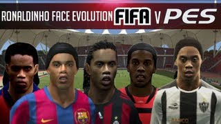getlinkyoutube.com-Ronaldinho Face Evolution Fifa 04-13 v PES 3-13 Comparison HD (dscide - Aldinho)