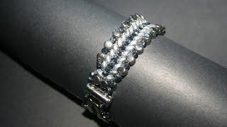 """getlinkyoutube.com-Bracciale """"Propus"""" Con le perline Pellet, Superduo e Mezzi Cristalli 3mm - PerlineBijoux.com"""