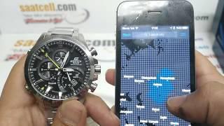 getlinkyoutube.com-Casio Edifice EQB-500D-1A Akıllı telefona bağlanma özellikli saat incelemesi (Türkçe)