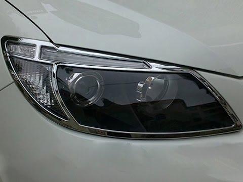 Хром передних фар BYD S6 Видео обзор