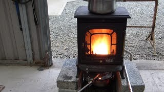 getlinkyoutube.com-Make a Great Waste Oil Burning Stove Heater