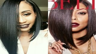 getlinkyoutube.com-MLC174 Wig | MAGIC CURVED PART LACE FRONT  | EMPIRE: COOKIE LYON INSPIRED BOB | IAMHAIR.COM