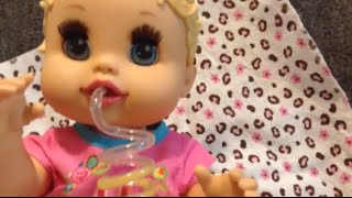 getlinkyoutube.com-Baby Alive Sip N Slurp Alice