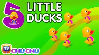 getlinkyoutube.com-Five Little Ducks Nursery Rhyme With Lyrics - Cartoon Animation Rhymes & Songs for Children