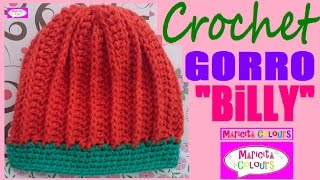 "getlinkyoutube.com-Gorro Bebé Niños ""Billy"" (Parte 1) todas las TALLAS  CROCHET por Maricita Colours"