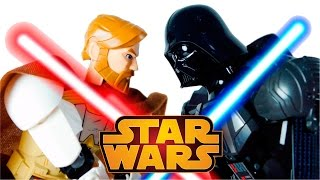 getlinkyoutube.com-LEGO Star Wars Toys 75111 Darth Vader vs 75109 Obi Wan Kenobi Stop Motion Cartoon VIDEO FOR CHILDREN
