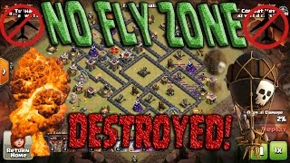 getlinkyoutube.com-Popular TH9 NO FLY ZONE Destroyed! Queen POP LaLoon Best Air Attack Clash of Clans