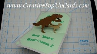 getlinkyoutube.com-Father's Day Dinosaur Pop Up Card Tutorial