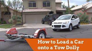 getlinkyoutube.com-How to Load a Car onto a U-Haul Tow Dolly