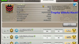 getlinkyoutube.com-Clash of Clans - NEW UNLIMITED Trophy Glitch/Hack?! 9999 Trophy Requirement