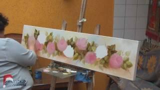 getlinkyoutube.com-Professora Nura - Pintura a Óleo rosas 2011