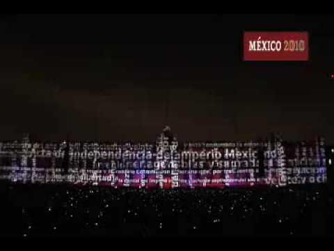 (2) Espectáculo de video, luz y sonido. Bicentenario México 2010