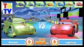 getlinkyoutube.com-Cars: Fast as Lightning NEON RACING! Komodo 5/6 vs Lightning McQueen