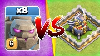 getlinkyoutube.com-WHAT HAPPENS WHEN 8 GOLEMS ATTACK ONE BASE!?! - Clash Of Clans New Events 2017!