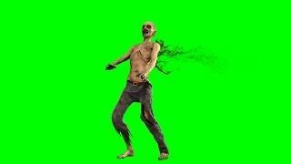 getlinkyoutube.com-walking dead zombie is shot - green screen
