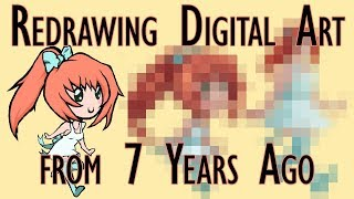 MY FIRST DIGITAL ART | Redrawing a Digital Drawing from 7 Years Ago | Draw This Again Challenge