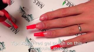 getlinkyoutube.com-Louboutin nail. Hard gel extension. Red Iguana | April Ryan