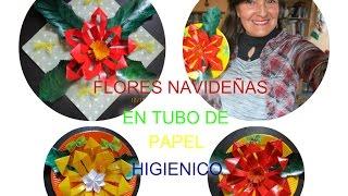 getlinkyoutube.com-FLOR NAVIDEÑA EN TUBO DE PAPEL HIGIENICO