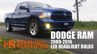 getlinkyoutube.com-LED Headlight Bulb Upgrade Kit for 2009-2016 Dodge Ram with Reflector Headlights