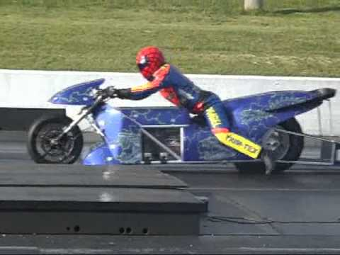 Rocket Electric Drag Bike 7.24@ 185 MPH