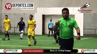 Boca Jr vs. Real Celaya Juego de Ida Champions de los Martes Liga San Francisco