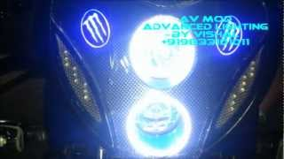 getlinkyoutube.com-PULSAR 220F MONSTER PROJECTOR HEDLIGHT& DUAL TONE WHEEL LIGHT BY VISHAL