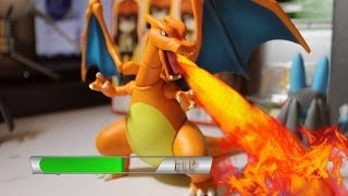 getlinkyoutube.com-Pokémon Stop-Motion Battle: Charizard Vs Lucario