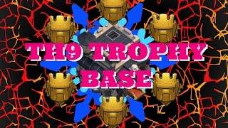 getlinkyoutube.com-Clash of Clans - TH9 Titan Trophy Base Speed Build