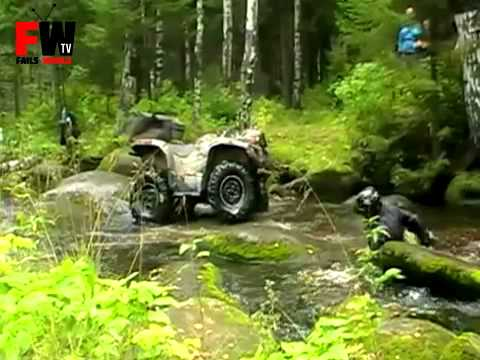 FAILS WORLD - ATV Creek Jumping Fail