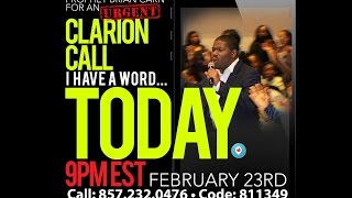 getlinkyoutube.com-Prophet Brian Carn - Clarion Call 2/23/16