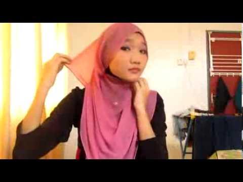 Cara Memakai Jilbab Segiempat Tutorial Kerudung Pasmina Cantik