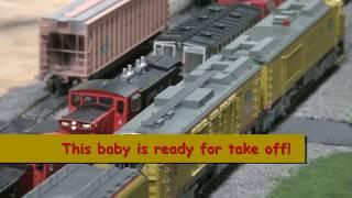 """getlinkyoutube.com-01.31.16 Amherst Train Show-  Scaletrains.com GTE 8500 """"Big Blow"""" Turbine Sound Preview"""