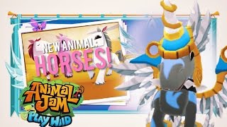 getlinkyoutube.com-Animal Jam: HORSES In Play Wild + A NEW CURRENCY!