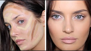 getlinkyoutube.com-Updated Contouring/Highlight Routine: Very Full Coverage Makeup!