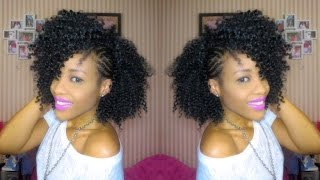 getlinkyoutube.com-Inspired Braided Side Mohawk| Natural Hair
