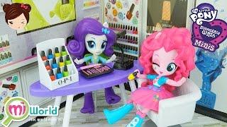 getlinkyoutube.com-Juego de Salon de Belleza Uñas para Muñecas MLP Equestria Minis - My Little Pony Juguetes
