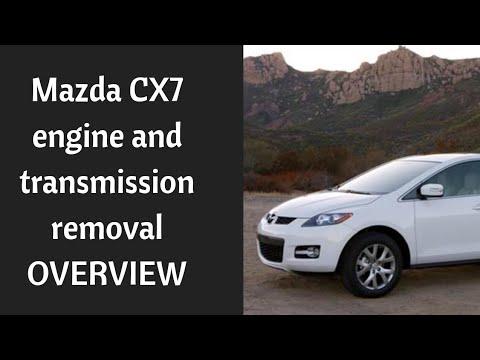 Mazda CX 7 Transmission engine removal overview procedure