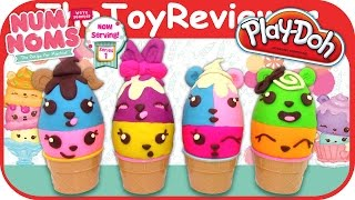 getlinkyoutube.com-Num Noms Play-Doh Surprise Eggs Mystery Lip Gloss Packs Unboxing Toy Review by TheToyReviewer