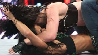 getlinkyoutube.com-WWE RAW 23 March 2015 End of the Fight Paige vs Nikki Bella-Catfight AJ Brooks as AJ Lee