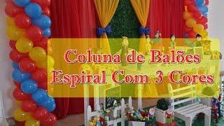getlinkyoutube.com-COLUNA DE BALÕES - COMO FAZER COLUNA DE BALÕES ESPIRAL